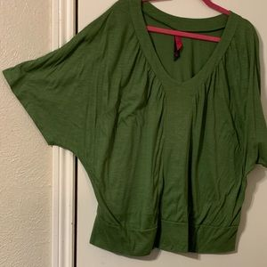 Pure Energy Tops - Green batwing top